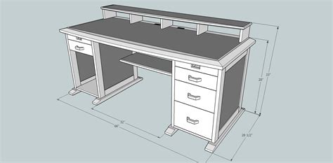 Computer Desk Blueprint Make A Wooden Computer Desk Wooden Furniture Plans