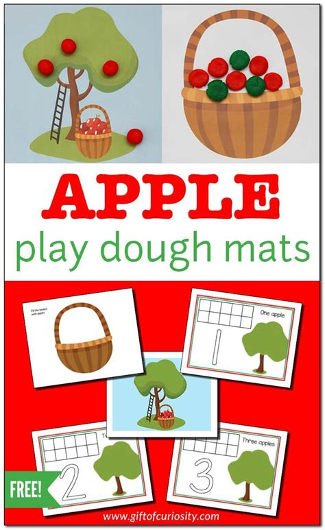 printable apple playdough mats apple play dough mats for fine motor play free printable