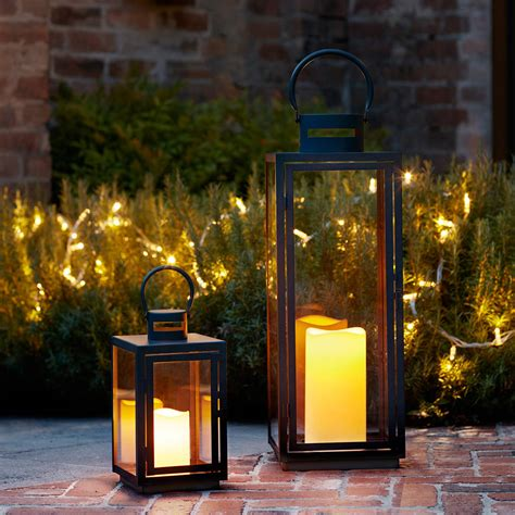 lanterne candele malvern outdoor battery candle lantern set by lights4fun