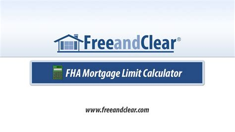 fha mortgage loan limit calculator