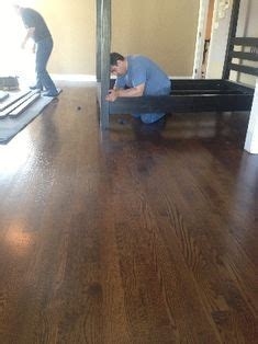 DuraSeal Dark Walnut Stain on Red Oak with Bona HD Traffic