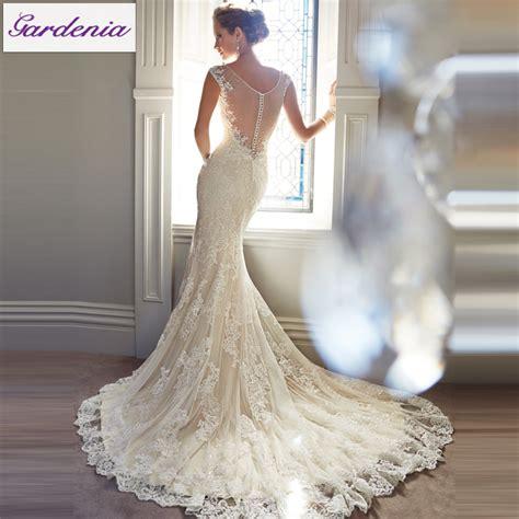 free veil vestido noiva mermaid wedding dress low