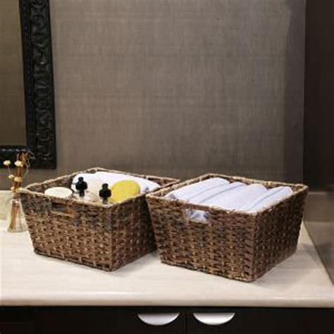 square baskets for shelves seville classics square polyethylene handwoven shelf