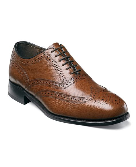 florsheim shoes lyst florsheim wing tip oxford shoes in brown