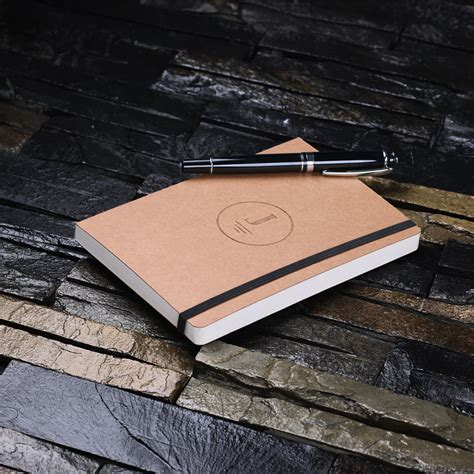 Craft Paper Notebook - craft paper notebook journal or diary with elastic band