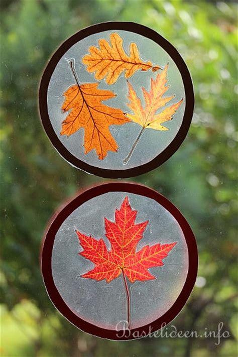Herbstdeko Fenster Basteln Kindern by Basteln Im Herbst Mit Kindern Fensterbilder Mit Echten