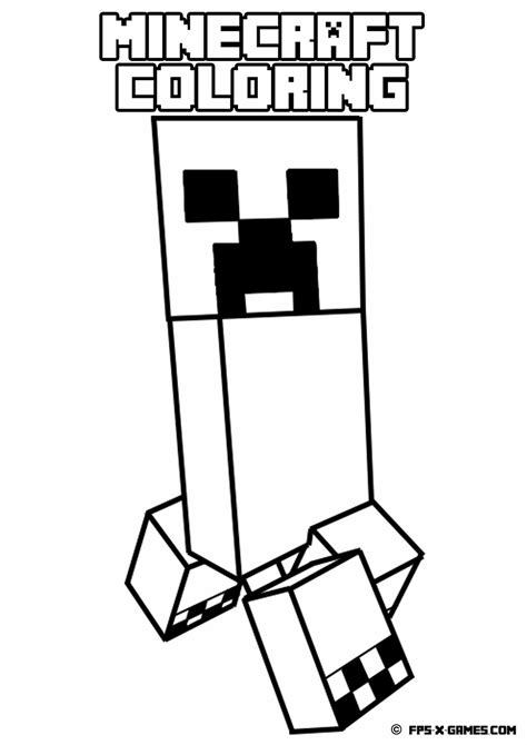 free coloring pages of creeper minecraft