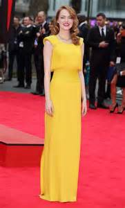 emma stone yellow emma stone stuns in atelier versace at quot the amazing spider