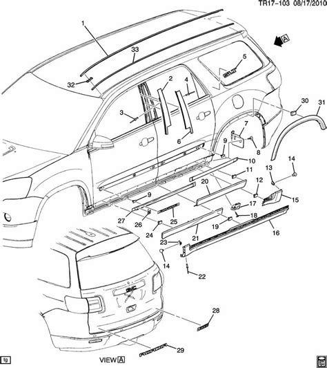 gmc parts diagram buick enclave parts diagram buick auto wiring diagram