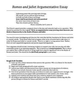 Romeo And Juliet Persuasive Essay by Creativity And Assessment In Ela Teaching Resources Teachers Pay Teachers