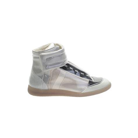 maison margiela future sneakers maison margiela future leather high top sneakers in gray