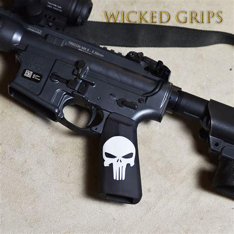 Ar15 M4 Grip Pvc Custom Custom Ar 15 M4 Grip Cerakote Classic Punisher