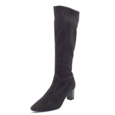 kaiser marabella pull on stretch boots in carbon