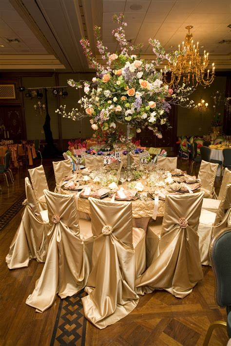 Wedding Tablecloths by Silver And Sparkle Is The Focus Notice The Confetti