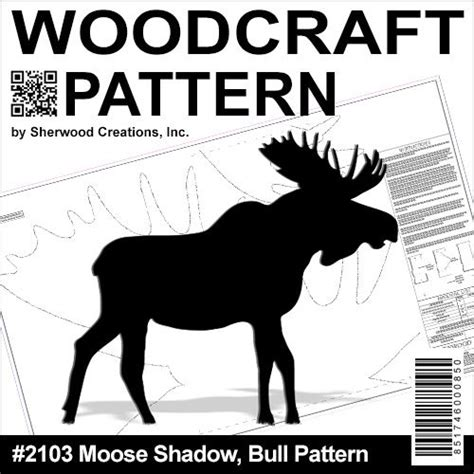 moose shadow bull diy woodcraft pattern