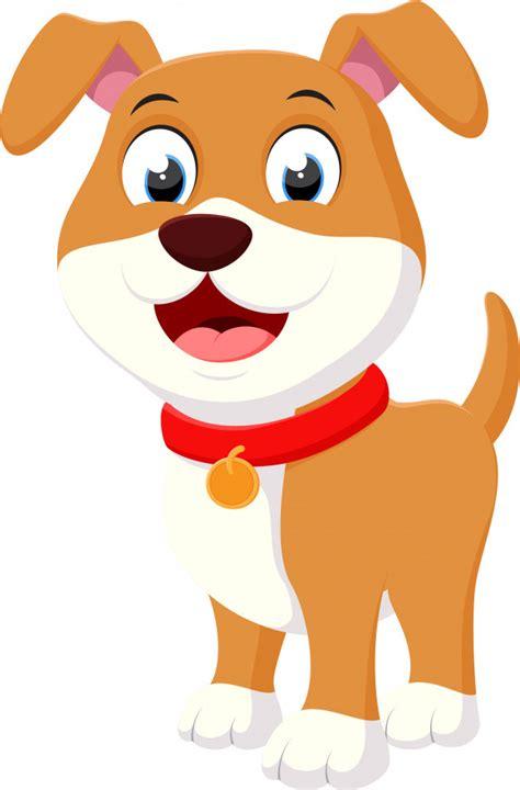 happy dog cartoon vector premium