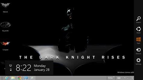 desktop themes batman batman the dark knight rises theme for windows 7 and 8