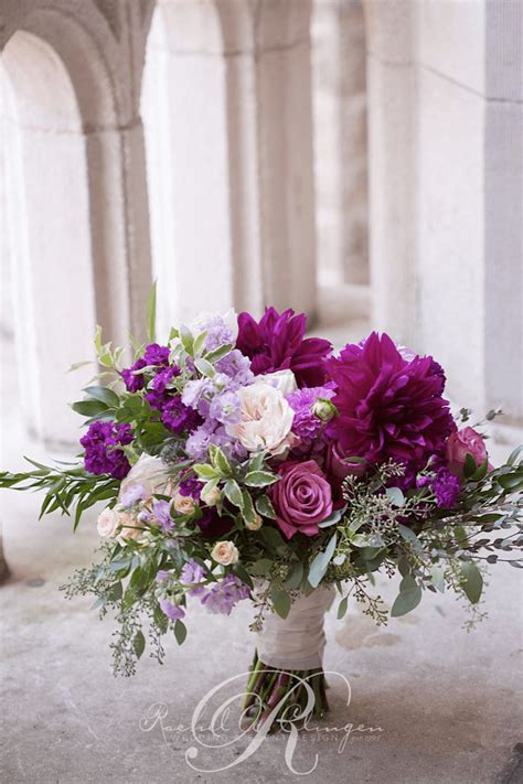 Purple Flowers Wedding by Wedding Flowers Bouquets Toronto