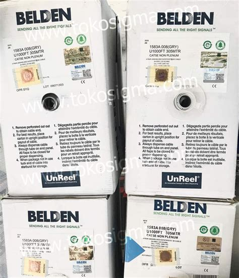 Belden Cat5e Original kabel lan belden utp cat 5e ori per roll toko sigma