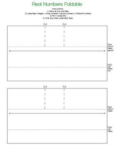 math journal template real number system interactive smart notebook lesson
