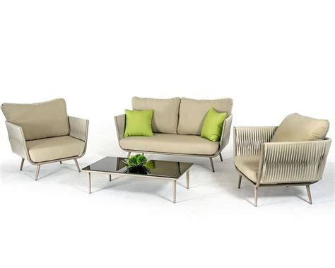 fabric sofa set contemporary outdoor acrylic fabric sofa set 44p210 set