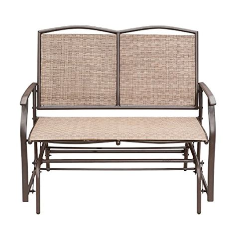 patio glider bench sunlife outdoor indoor glider loveseat set rattan resin wicker patio bench furniture double for