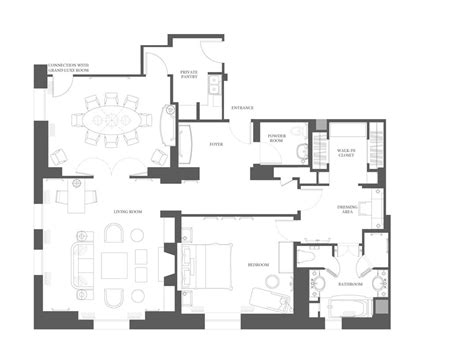 Three Three Robin Floor Plan hotel suites manhattan grand suite at the peninsula new york