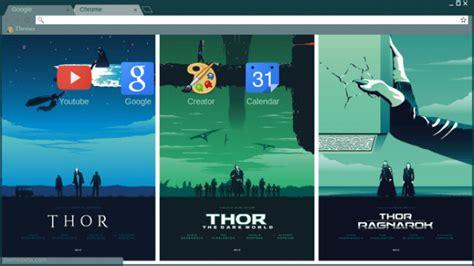 chrome themes marvel marvel s studios thor trilogy chrome theme themebeta