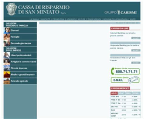 www banca cr firenze it carismi it cassa di risparmio di san miniato s p a
