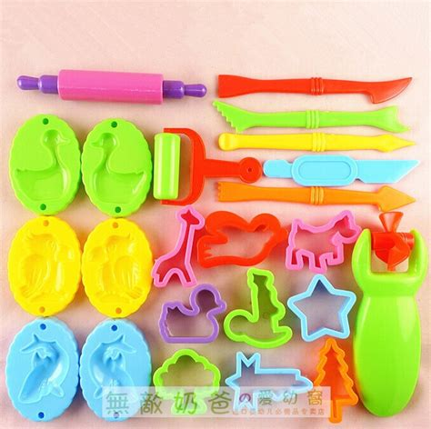 23 pieces free shipping color 23 pieces free shipping color play dough model tool toys
