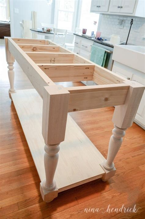 kitchen island diy plans build your own diy furniture style kitchen island