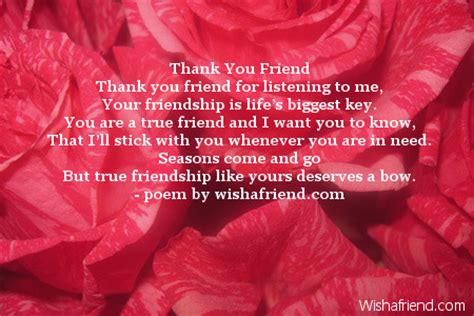thank you letter to a true friend thank you friend poem for friends