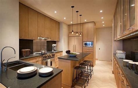 new york modern modern kitchen new york by 7万打造90平现代简约餐厅吊顶装修实景图 土巴兔装修效果图