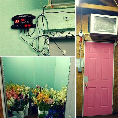 diy coolbot here s a flower farmer s diy walk in cooler with a coolbot setup in the corner of garage an