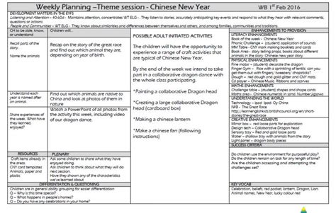 new year planning for early years 26 best eyfs planning images on assessment