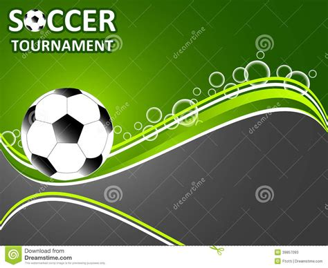 Template For The Invitation Soccer Tournament Stock Vector Illustration Of Background Goal Soccer Template