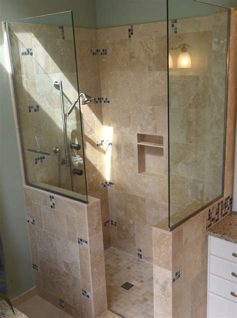 walk in shower designs without doors pictures to pin on