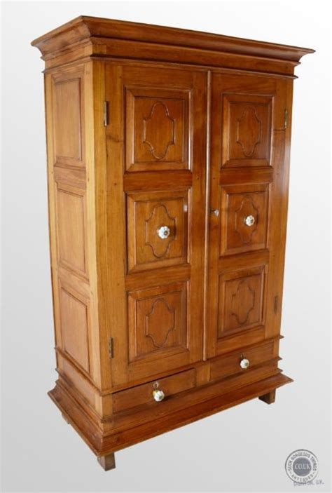 antique cherry wardrobe linen press cabinet