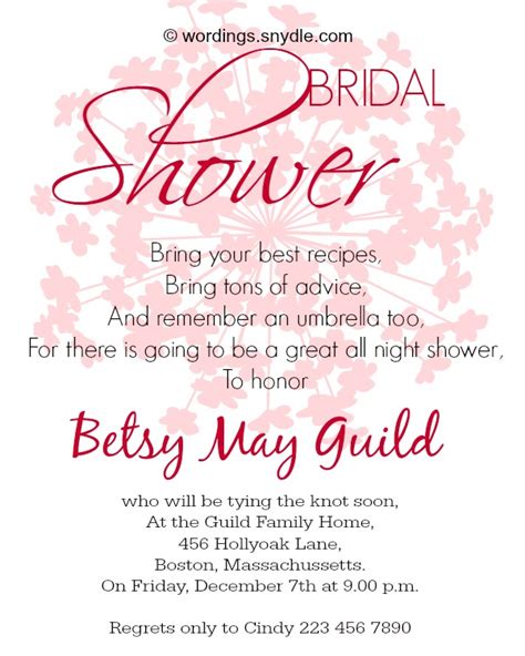 bridal shower invite sayings bridal shower invitation wordings wordings and messages