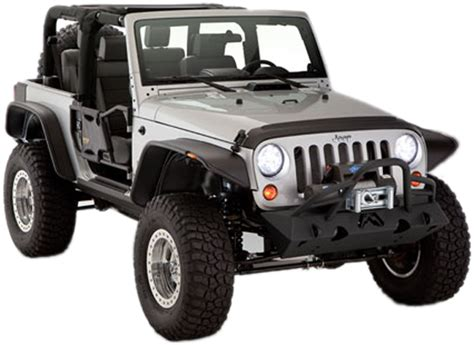 Jeep Wrangler Jk Fenders Jeep Wrangler Jk 2 Door Bushwacker Flat Style Fender Flare