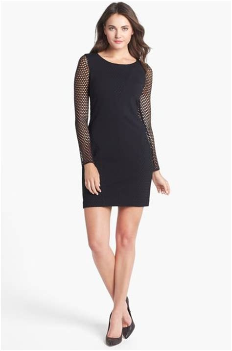 Cutout Sheath Knit Dress betsey johnson cutout detail ponte knit sheath dress in