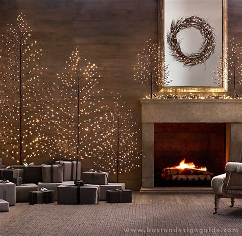 restoration hardware tree garland how to celebrate the holidays in style boston design guide