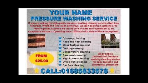 Pressure Washing Services Flyer Template Youtube Pressure Washing Template