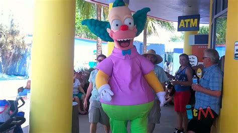 theme park owned by a television clown on the simpsons krusty the clown character meet and greet debuts at the
