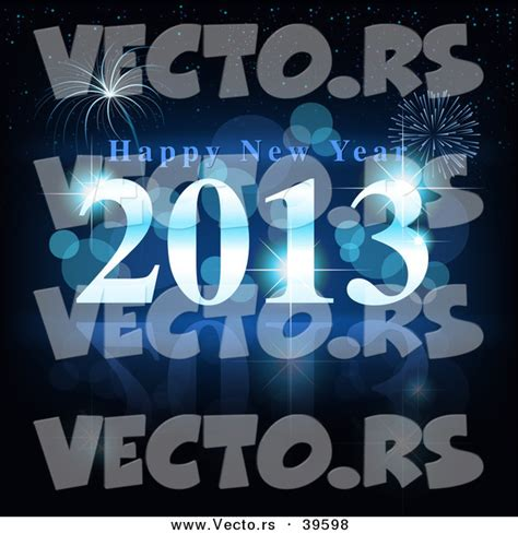 new year 2013 background vector free vector of a blue happy new year 2013 with fireworks in