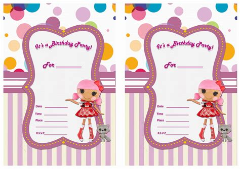 lalaloopsy printable birthday invitations lalaloopsy birthday invitations birthday printable