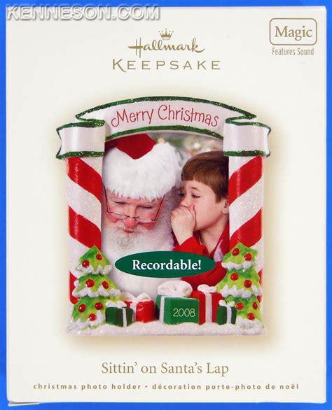 sittin on santa s lap recordable christmas photo holder