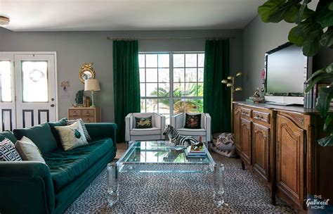 Glam Bedroom Tour Eclectic Glam Living Room Tour Sources The Gathered Home