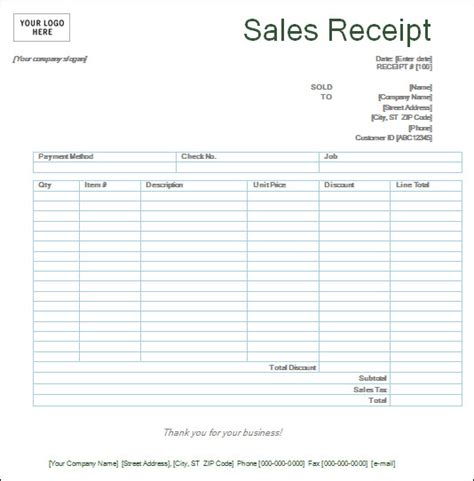 receipt template with logo free sales receipt template and form sle with company