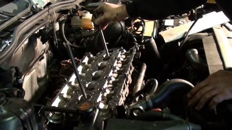 part  continued volvo   cylinder head installation youtube